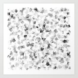 many small colored squares shaded superimposed Art Print