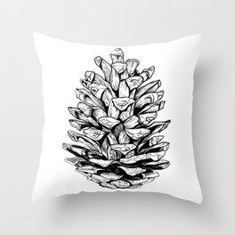 Pine cone illustration Throw Pillow
