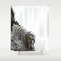 turkey Shower Curtains featuring Turkey! by MClementTheArtist