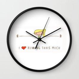 I love running girl Wall Clock