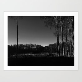 Eerie view in the Highlands Art Print