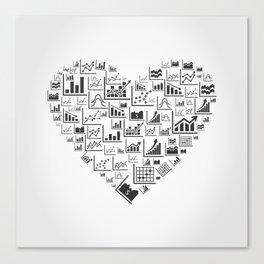 Schedule heart Canvas Print