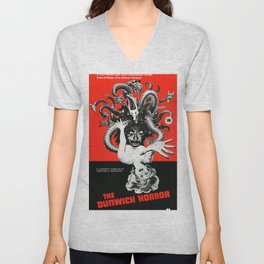 The Dunwich Horror, vintage horror movie poster Unisex V-Neck