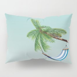 Cuba Hammock travel poster Pillow Sham