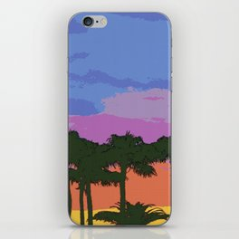 Find me under the palm trees iPhone Skin