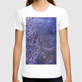 Blue and violet patterns T-shirt