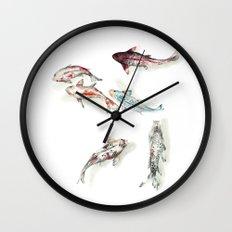 Koi Fish Watercolour Wall Clock