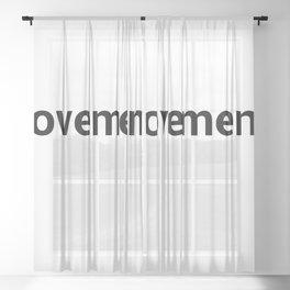 movements Sheer Curtain