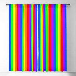 Rainbow flag - Vertical Stripes version Blackout Curtain