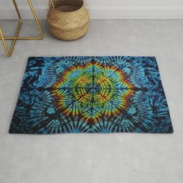 Exhale: A vibrant mix of colors of the rainbow Rug