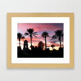 Church at sunset Framed Art Print