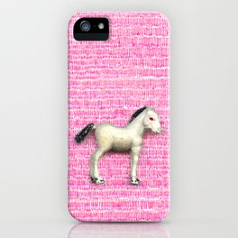 My little foal in a sea of pink iPhone Case