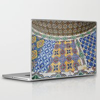 mexican Laptop & iPad Skins featuring Mexican Tiles by Renee Trudell