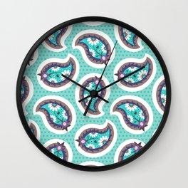 Arabian Nights Paisley Wall Clock