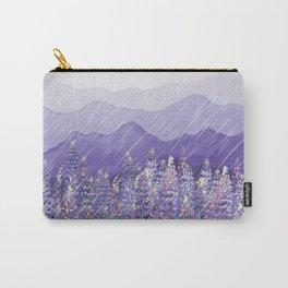 Purple Mountain Rain Carry-All Pouch