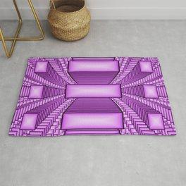 Pink Pattern With Depth Fractal Art Rug