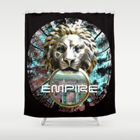 lions Shower Curtains featuring LIONS by infloence