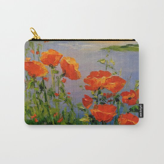 Poppies near the river Carry-All Pouch