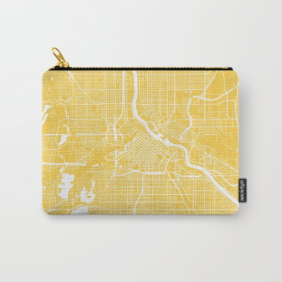 Minneapolis map yellow Carry-All Pouch