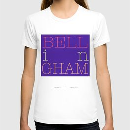 Bellingham, Washington city letter art T-shirt
