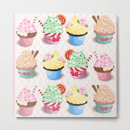 Pretty Cupcake Parade Metal Print