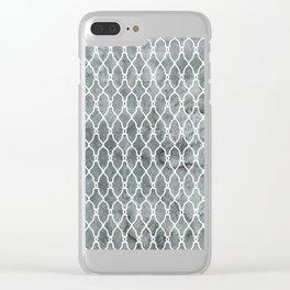 Smoke Trellis Pattern Clear iPhone Case