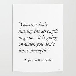 Napoléon Bonaparte quote1 Poster