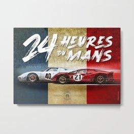 Le Mans Vintage Poster Metal Print