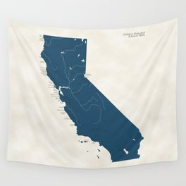 California Parks - v2 Wall Tapestry