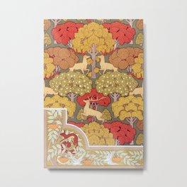 Maurice Pillard Verneuil - Cerfs et arbres Metal Print