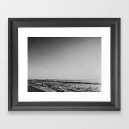HALF MOON BAY II (B+W) Framed Art Print
