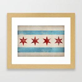 Chicago Flag Framed Art Print
