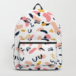Woman in strokes Backpack