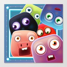 Glutton Jelly Monsters - all Canvas Print