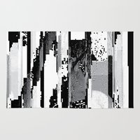 glitch Area & Throw Rugs featuring Glitch by poindexterity