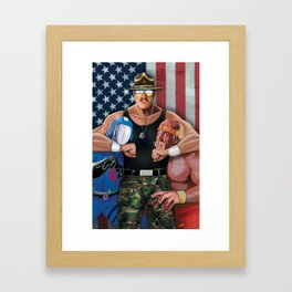 Sarge Rules Framed Art Print