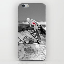 surf santa - wind surf iPhone Skin
