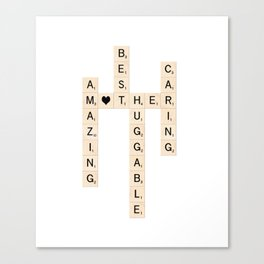MOTHER's Day Scrabble Art Gift Canvas Print