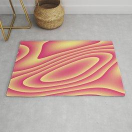 Pink and Yellow Swirls Rug