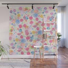 Flower Splatter Wall Mural
