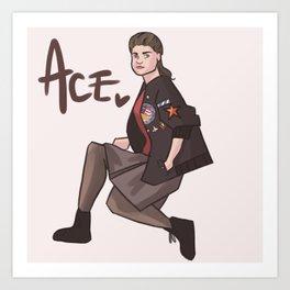 Ace! Art Print