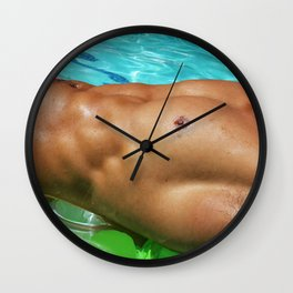 catching some sun Wall Clock
