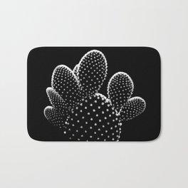 Cactus Minimalism Photography | Black and White | Desert Things Bath Mat
