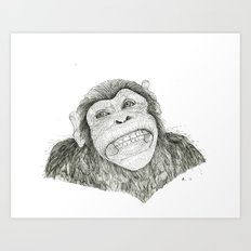 Smile like you mean it  Art Print