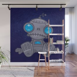 Sad Robot Wall Mural