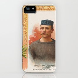 Hugh McCormack, Skater, from World's Champions, Second Series (N43) for Allen & Ginter Cigarettes,18 iPhone Case