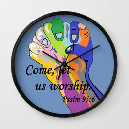 Come Let Us Worship Wall Clock