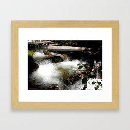 Cascades on Fall Creek in the Weminuche Wilderness, No. 1 of 2 Framed Art Print