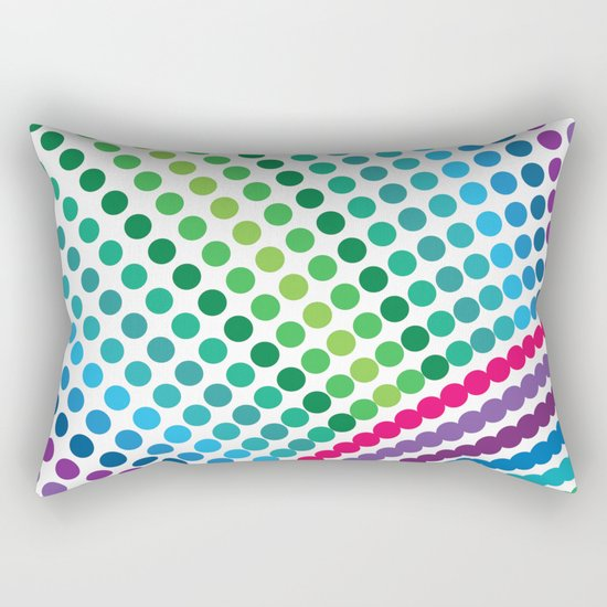 Do dot not only to the end Rectangular Pillow