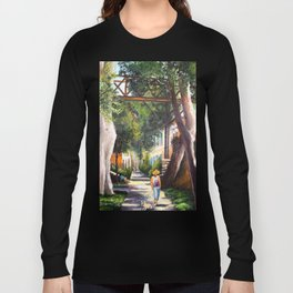 Bridge of sighs painting in Barranco - Lima, Peru #eclecticart Long Sleeve T-shirt